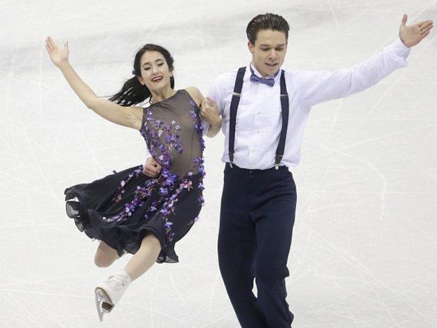 Cortney Mansourová a Michal Češka na mistrovství Evropy.