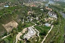 Letecký snímek areálu pražské zoo
