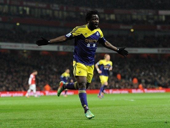 Bony Wilfried a jeho gól do sítě Arsenalu
