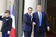 Emmanuel Macron a Donald Trump