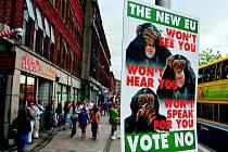 Plakát proti Lisabonské smlouvě v Dublinu.