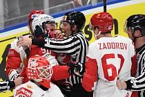 Nikita Zadorov na mistrovství světa v Bratislavě a Košicích