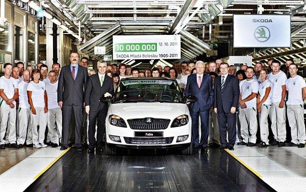 Škoda Auto vyrobila 12. října v hlavním závodě v Mladé Boleslavi desetimiliontý vůz. Jubilejním vozem je bílá Fabia Monte Carlo. Automobil zůstane ve Škoda Auto muzeu.
