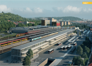 Smíchovské nádraží navrhovaná podoba. Krok 1