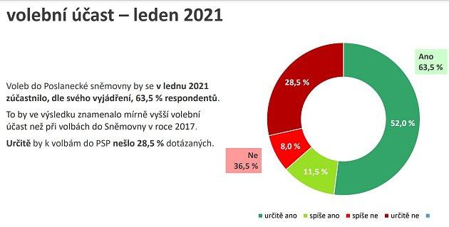 Volební účast, leden 2021