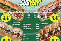 Subway prodává několik druhů sendvičů.