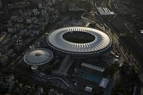 Letecký pohled na fotbalový stadion Maracaná v Rio de Janeiru