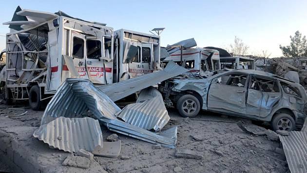 Sebevražedný útok na nemocnici v jihoafghánském Zábulu 19. září 2019