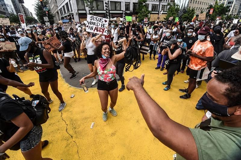 Protest ve Washingtonu