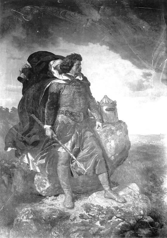 Vladislav Lokýtek ve skalách, obraz Wojciecha Gersona