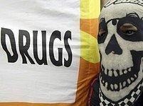 Protest proti drogám v indonéské Jakartě