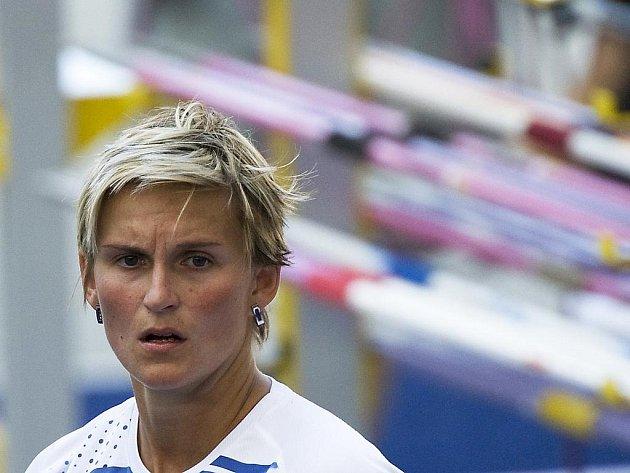 Barbora Špotáková při kvalifikaci oštěpařek.