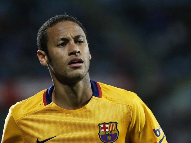 Kanonýr Barcelony Neymar.