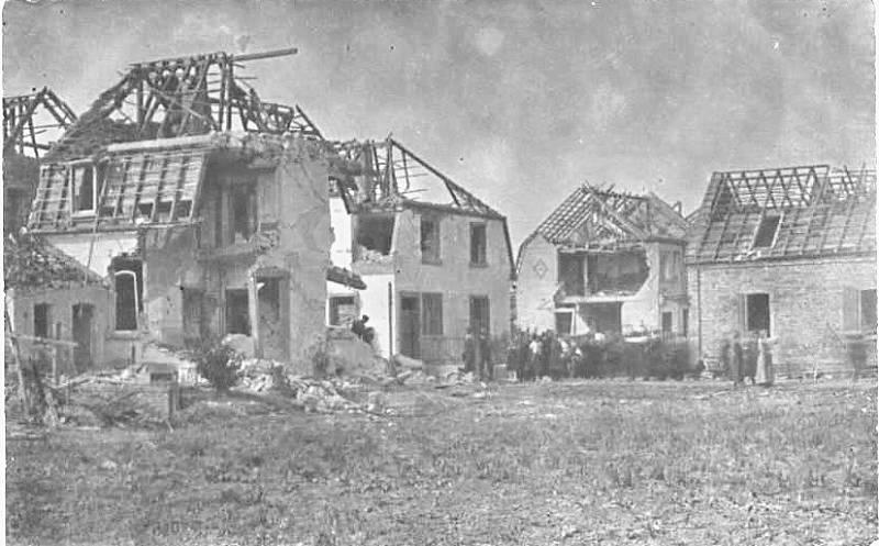 Budovy poškozené výbuchem chemičky v Oppau
