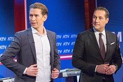 Sebastian Kurz a Heinz-Christian Strache (s kravatou)
