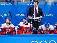 Čeští hokejisté ve svém posledním zápase olympiády.