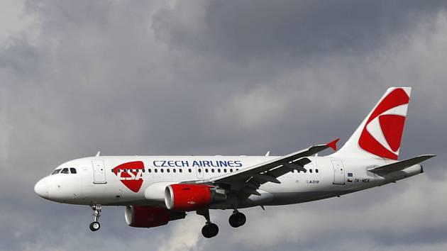 Letadlo Českých aerolinií - ilustrační foto.