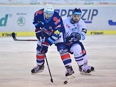 Liberec - Chomutov: Martin Bakoš (vpravo) a Antonín Dušek