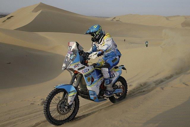 Milan Engel na rallye Dakar