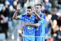 Mladá Boleslav - Baník Ostrava: Milan Baroš a jeho gesto směrem k fanouškům hostů