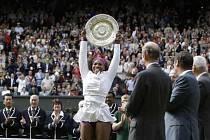 Wimbledonská vítězka Serena Williamsová.