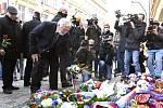 Exprezident Václav Klaus na Národní třídě