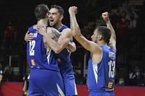Čeští basketbalisté vyhráli olympijskou kvalifikaci.