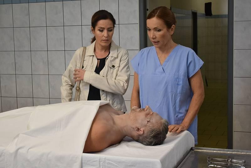 Natáčení seriálu Policie Modrava na patologii Klatovské nemocnice.