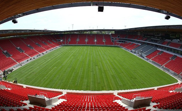 Stadion Slavie.