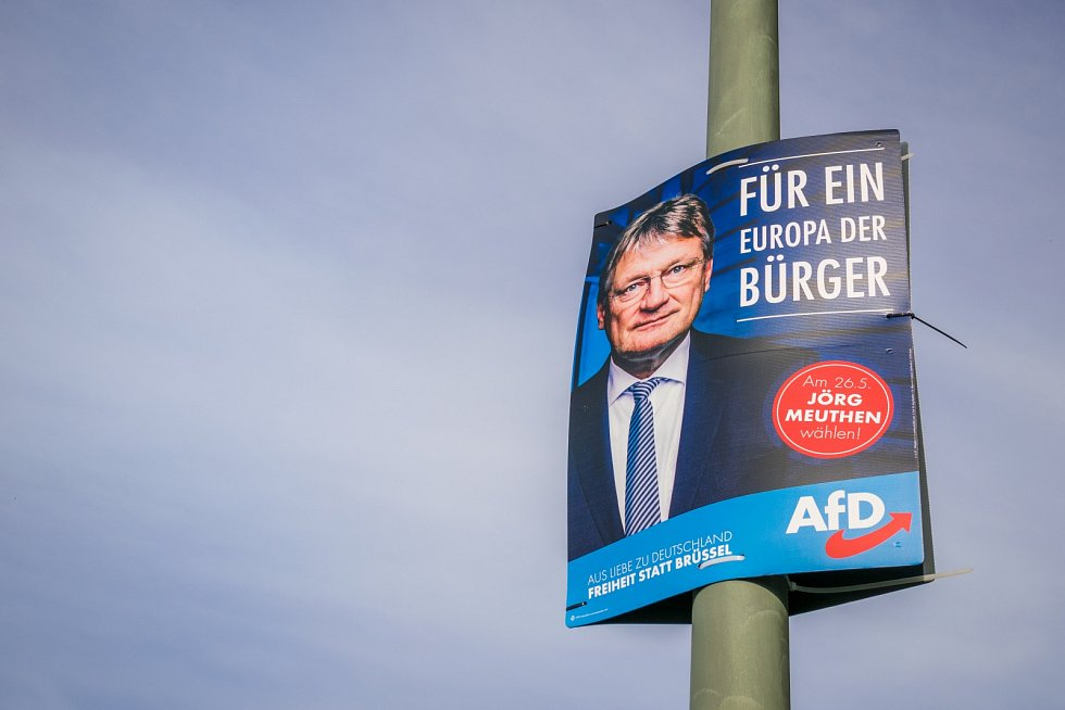 Plakát AfD z května 2019