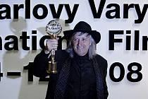 Juraj Jakubisko na filmovém festivalu v Karlových Varech.