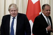 Boris Johnson a Sergej Lavrov