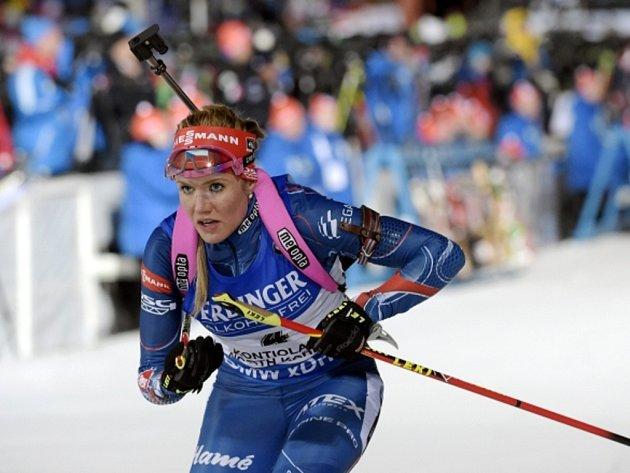 Biatlonistka Gabriela Soukalová si ve vytrvalostním závodu na MS dojela pro stříbro.