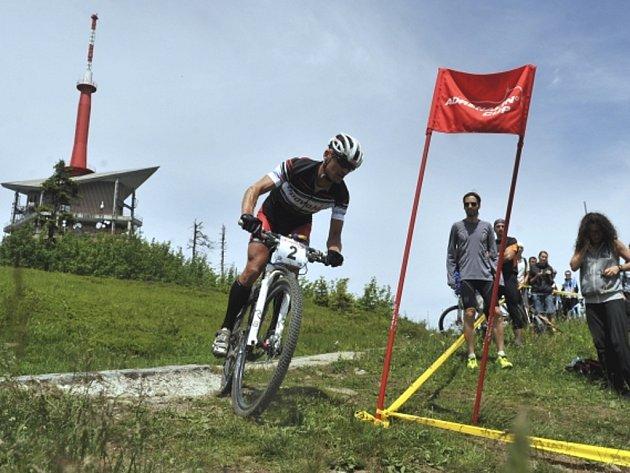 Biker Jan Hruška.