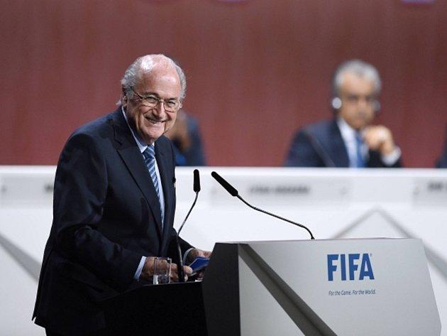 Předseda Mezinárodní fotbalové federace Sepp Blatter na kongresu FIFA.