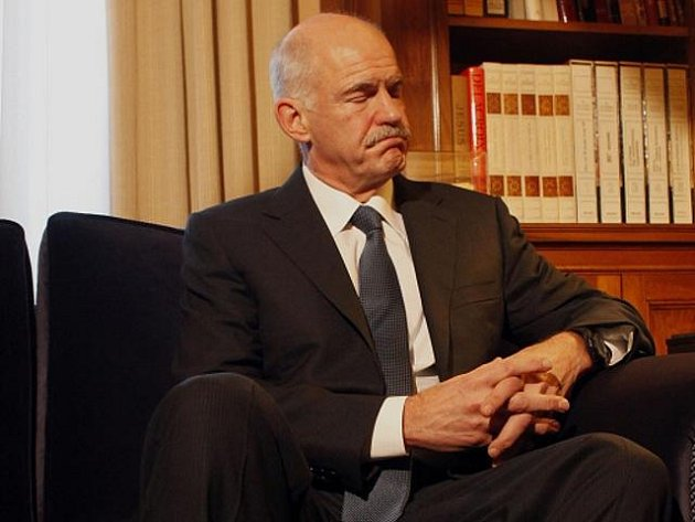 Řecký premiér Jorgos Papandreu.