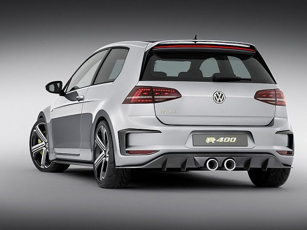 Koncept Volkswagen Golf R400.