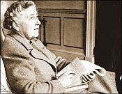 Pravá lady. Agatha Christie zní na nově objevené nahrávce jako dáma ze staré Anglie.