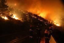 Rozsáhlé požáry v Chorvatsku.