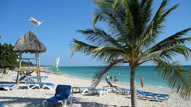 Pláž na Kubě.