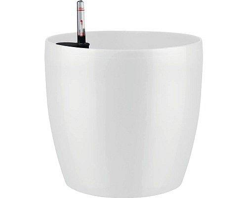Květináč Lafiora, 459 Kč. Využívá závlahový systém bez knotů, součástí výrobku je ukazatel hladiny vody.