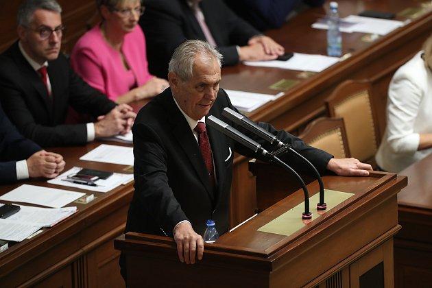 Miloš Zeman ve Sněmovně