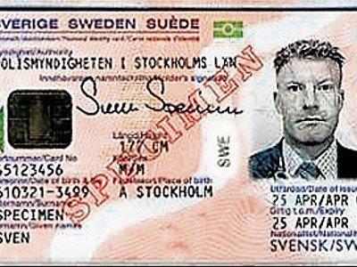 Tak vypadá nový typ občanky, který se používá ve Švédsku. Podobný by brzy měl být i v ČR.