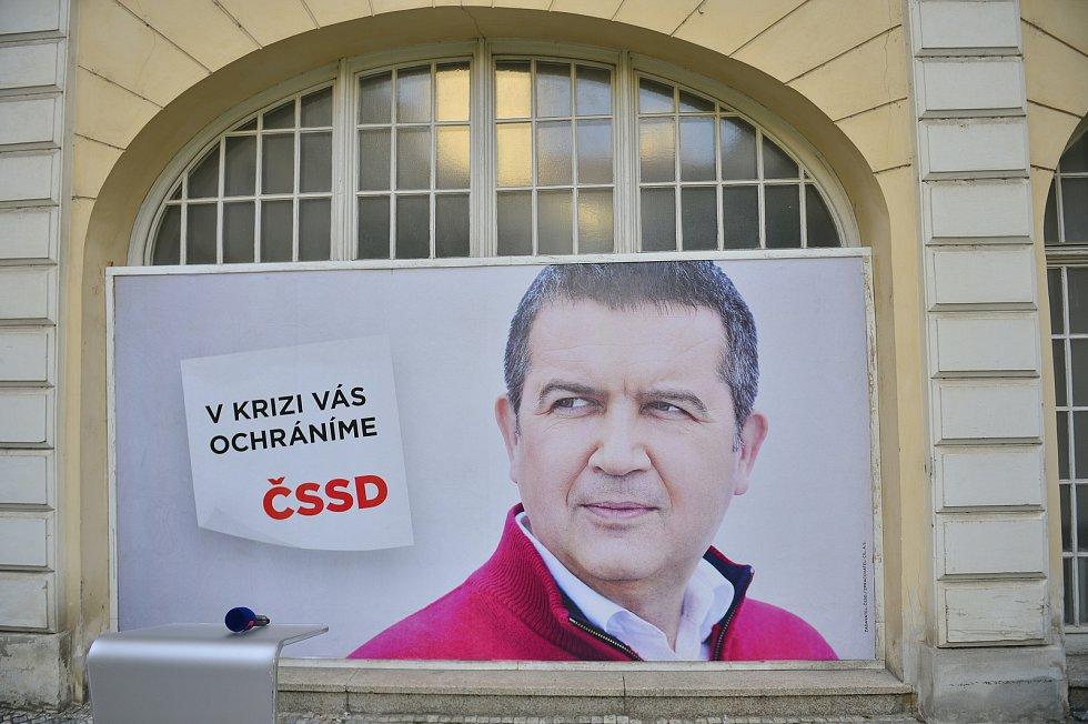 Volební štáb ČSSD.
