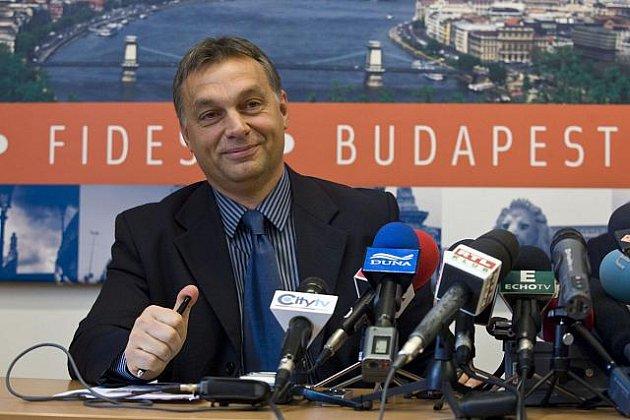 Viktor Orban - předseda vítězné strany Fidesz