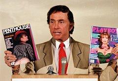 Zakladatel časopisu Penthouse Bob Guccione na snímku z roku 1986.