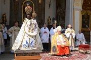 poutní místo Svatá Hora, z oslav výročí korunovace Panny Marie Svatohorské