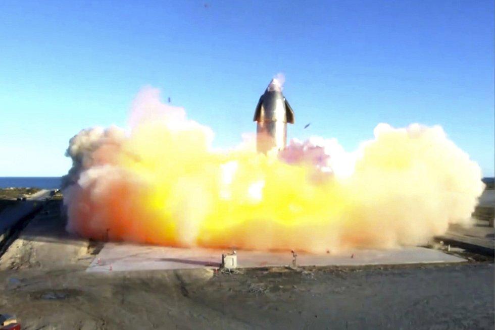 Exploze rakety Starship