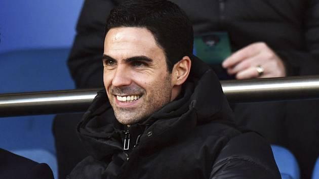 Trenér fotbalistů Arsenalu Mikel Arteta.