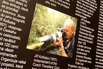 Cestovatel Jiří Kolbaba často také vystavuje.